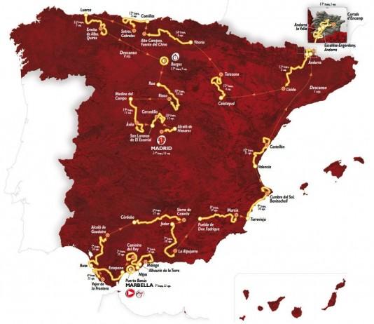 Vuelta 2015 etapy