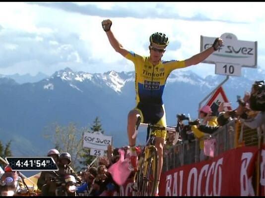 Vítěz 20. etapy Michael Rogers Giro 2014