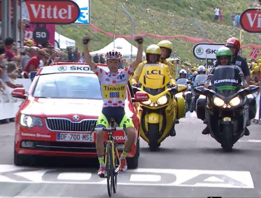 Rafal Majka podruhé vítěz etapy Tour de France