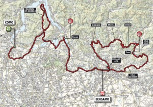 Kolem Lombardie trasa etapy