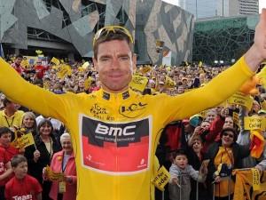 Cadel Evans ve žlutém na Tour de France