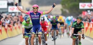 Davide Cimolai vítěz v etapě Paříž - Nice 2015