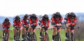 BMC na trati týmové časovky na Tour de Romandie 2015