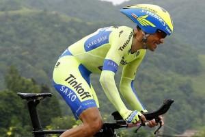 Alberto Contador (Tinkoff - Saxo) během dnešní etapy Gira