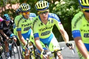 Tým Tinkoff-Saxo během etapy Gira