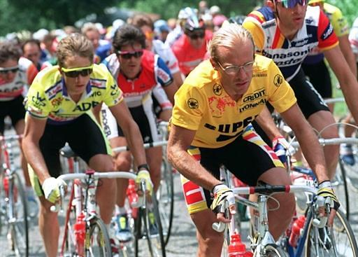 LeMond a Fignon během Tour 1989