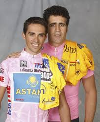 Starší foto po Contadorově úspěchu na Giru, společně s Indurainem