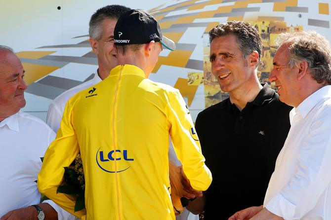Chris Froome a Miguel Indurain