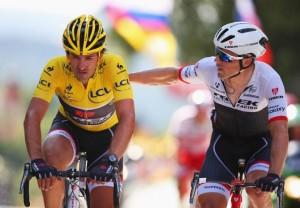 Fabian Cancellara a Markel Irizar.