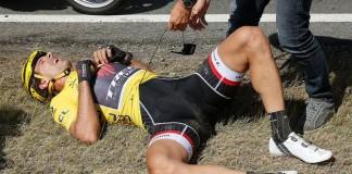 Fabian Cancellara po pádu.