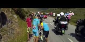 Pád Jakob Fuglsang - Astana - Tour de France