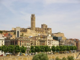 Lleida - dojezd 18. etapy Vuelty 2018 a 12. etapy Vuelty 2015