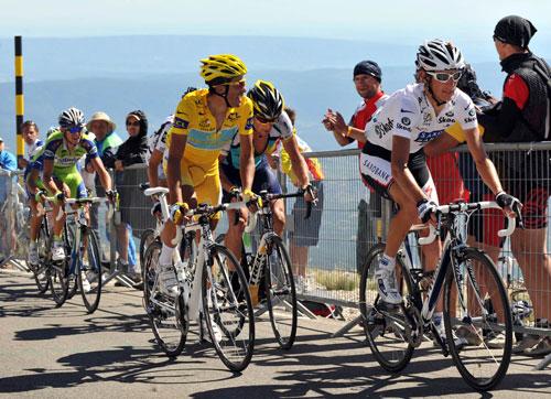Schleck, Contador, Armstrong