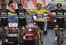 Sky dojezd do cíle Tour de France 2016