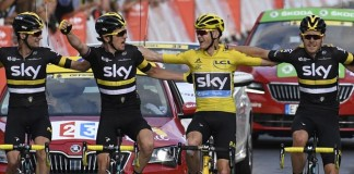 Sky dojezd do cíle Tour de France 2016