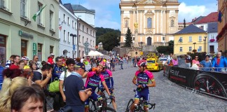 Diego Ulissi v cíli Czech Cycling Tour 2016