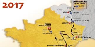Mapa Tour de France 2017