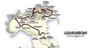 Trasa Giro d'Italia 2017