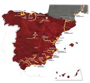 Vuelta 2017 mapa