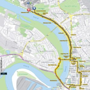 Mapa 1. etapy Tour de France 2017