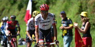 Alberto Contador na cestě k prvnímu červenému číslu ve 13. etapě
