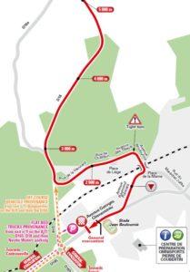 Závěrečné kilometry - mapa 4. etapy Tour de France 2017