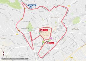 Nîmes - mapa 1. etapy - 72. Vuelta a España