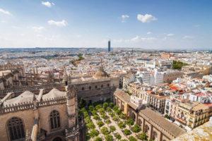 Sevilla - okolí dojezdu 13. etapy Vuelty 2017