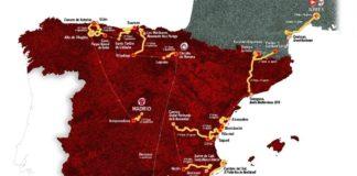 Vuelta a España 2017 - celková mapa závodu