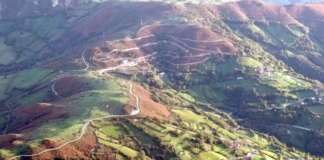 Angliru - dojezd 20. etapy Vuelty 2017