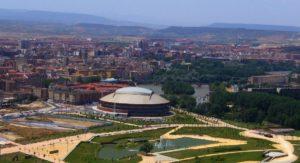Logroño - okolí dojezdu 16. etapy Vuelty 2017