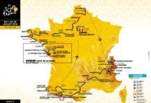 Celková mapa Tour de France 2018 etapy