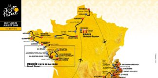 Celková mapa Tour de France 2018