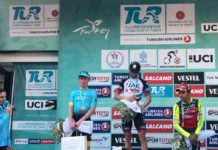 Celkové pódium Tour of Turkey - 1. Ulissi, 2. Hansen, 3. Masnada