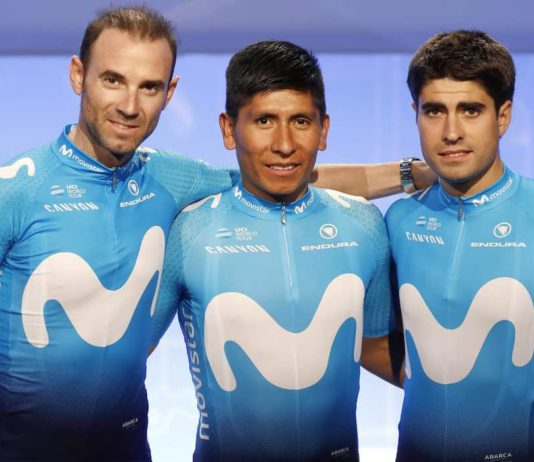 Cyklistický dres Movistar 2018