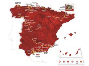 Vuelta 2018 - celková mapa