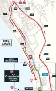 Poslední kilometry 7. etapy Giro d'Italia 2018