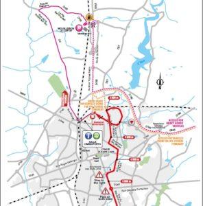La Roche-sur-Yon - mapa závěrečných kilometrů 2. etapy Tour de France 2018