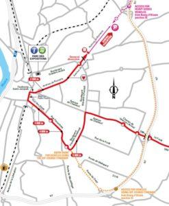 Mapa závěrečných kilometrů 13. etapy Tour de France 2018
