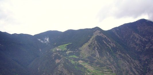 Coll de la Gallina - okolí dojezdu 20. etapy Vuelty 2018