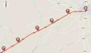 Mapa dojezdu 10. etapy Vuelty (Bermillo de Sayago)