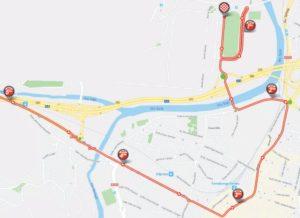 Mapa dojezdu 16. etapy Vuelty 2018 (Torrelavega)