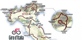 Mapa Giro 2019 aktualizovaná