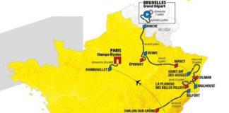 Mapa trasy Tour de France 2019
