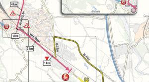 Mapa dojezdu 11. etapy Giro d'Italia 2019 (Novi Ligure)
