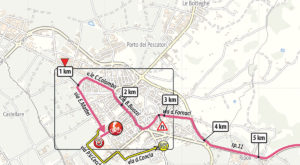 Mapa dojezdu 2. etapy Giro d'Italia 2019 (Fucecchio)