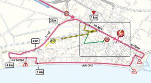 Mapa dojezdu 5. etapy Giro d'Italia 2019