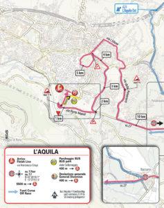 Mapa dojezdu 7. etapy Giro d'Itlia 2019