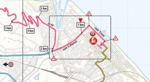 Mapa dojezdu 8. etapy Giro d'Italia 2019 (Pesaro)