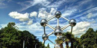 Atomium (Brusel) - cíl 2. etapy Tour de France 2019